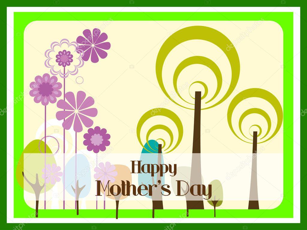 Abbildung für glückliche Mutter Day celebration — Stockvektor ...