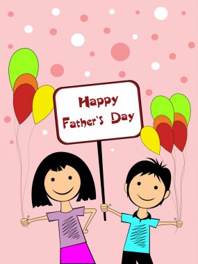 illustration for happy father's day celebration