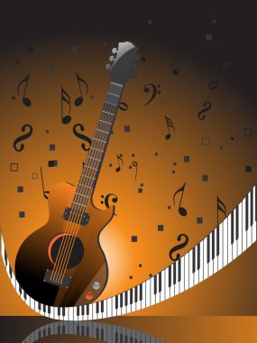 Abstract musical concept background