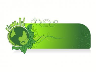 background with isolated go green concept banner