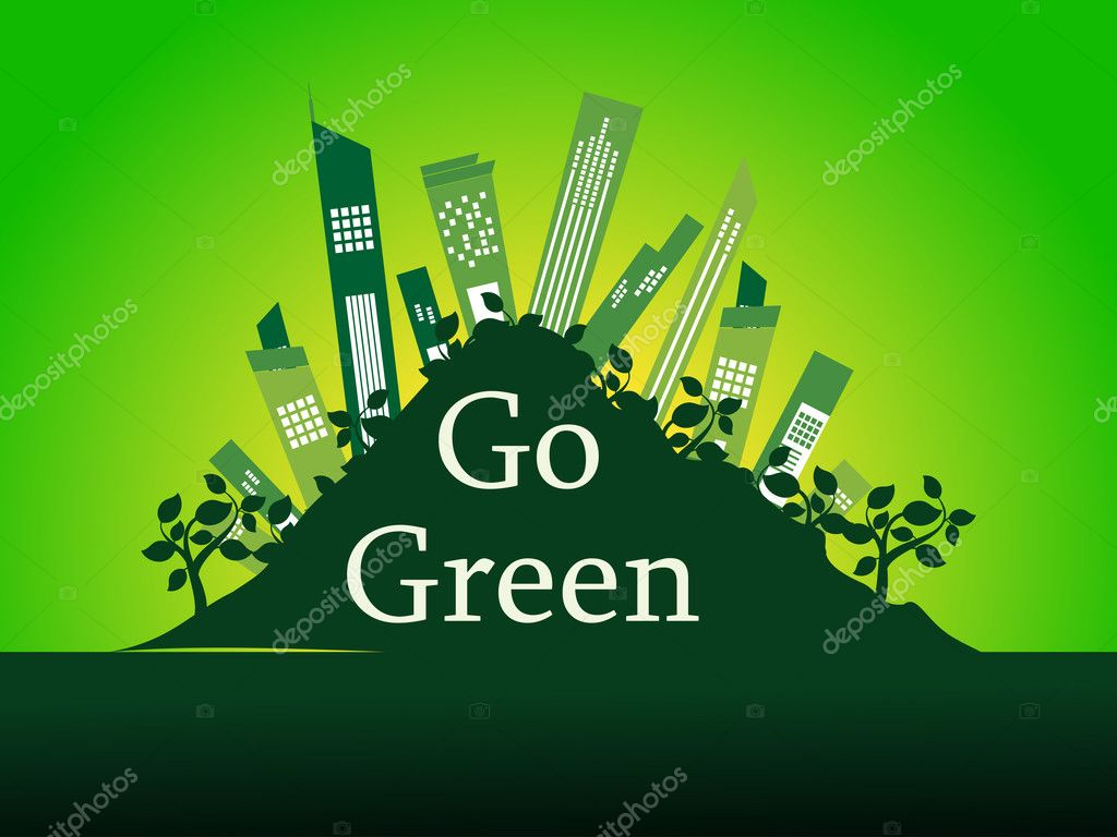 Abstract Go Green Concept Background Vector Illustration Vector By Alliesinteract