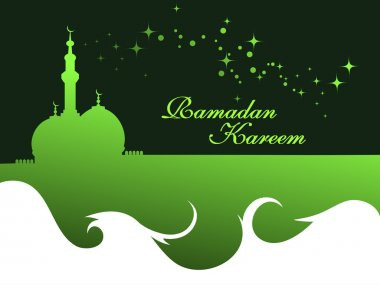 illustration for ramadan kareem celebration