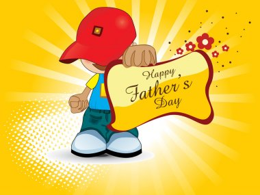 Greeting card for happy father
