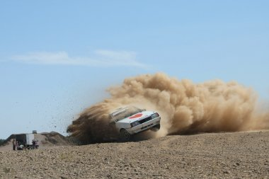 Rally Car at Special Stage