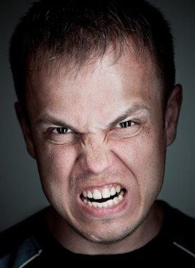 Angry caucasian man