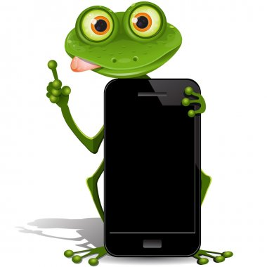 Frog and cellular telephone