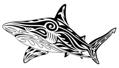 Shark, tribal tattoo