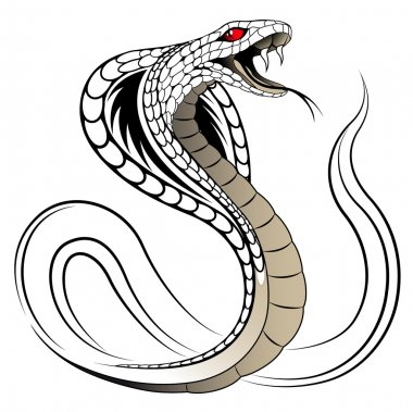 Snake, Cobra in the form of a tattoo stock vector