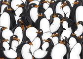 Fotografia modello di pinguini
