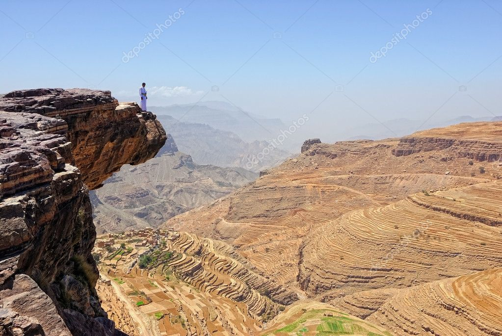 Mountain Yemen landscape
