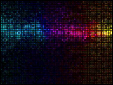 Multicolor abstract lights disco background
