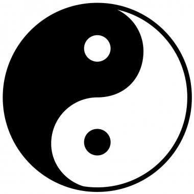 Ying yang symbol of harmony and balance, vector illustration stock vector