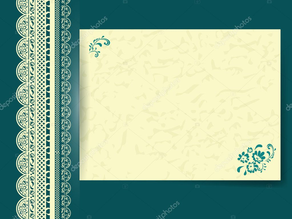 marco de encaje con papel decorado floral — Archivo Imágenes ...