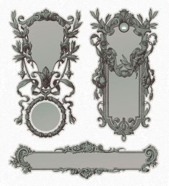 Vintage engraved ornate frames