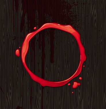 Bloody round frame
