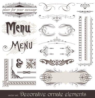 Decorative design elements & page decor