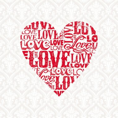 Vector Valentines card with heart stock vector