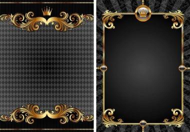 Gold & black luxury decorative background