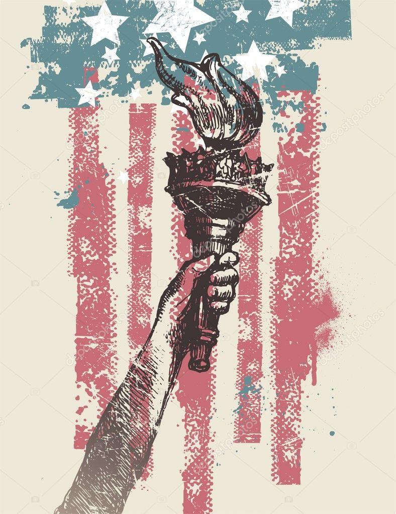 Abstract USA patriotic vector illustration
