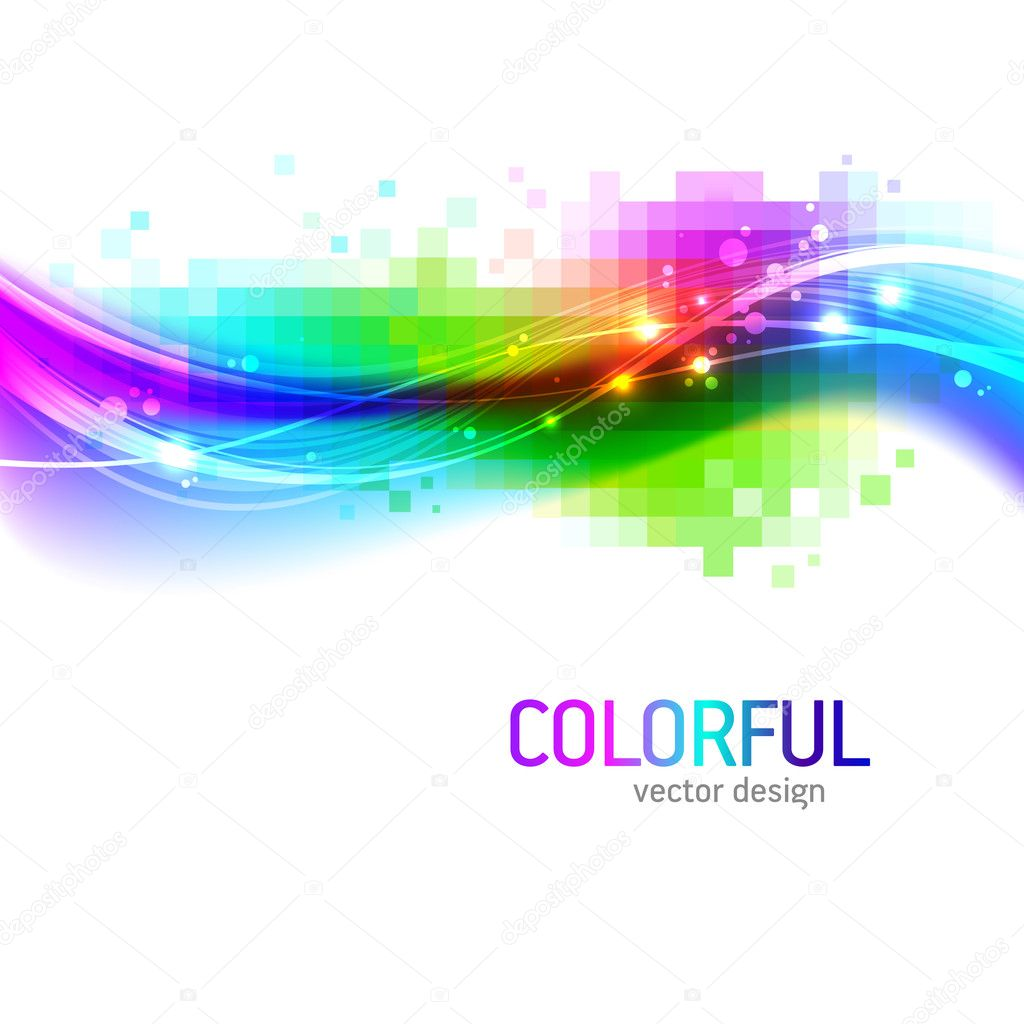 Abstract Background With Colorful Wave Stock Vector 169 S