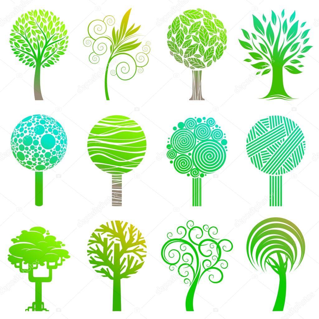 Set of trees emblem