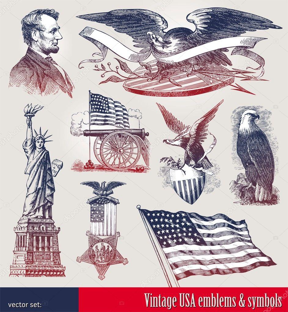 Usa patriotic emblems symbols stock vector s e r g o 5409300 usa patriotic emblems symbols stock vector buycottarizona Choice Image