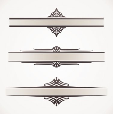 Decorative vector frames with ornamental elements