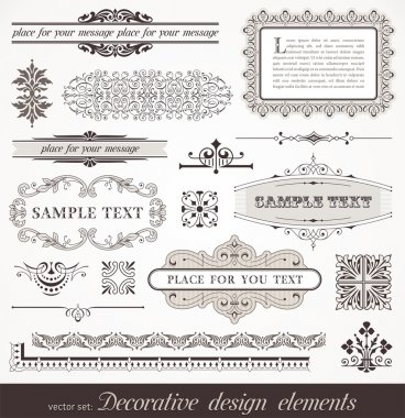 Vector decorative design elements & page decor