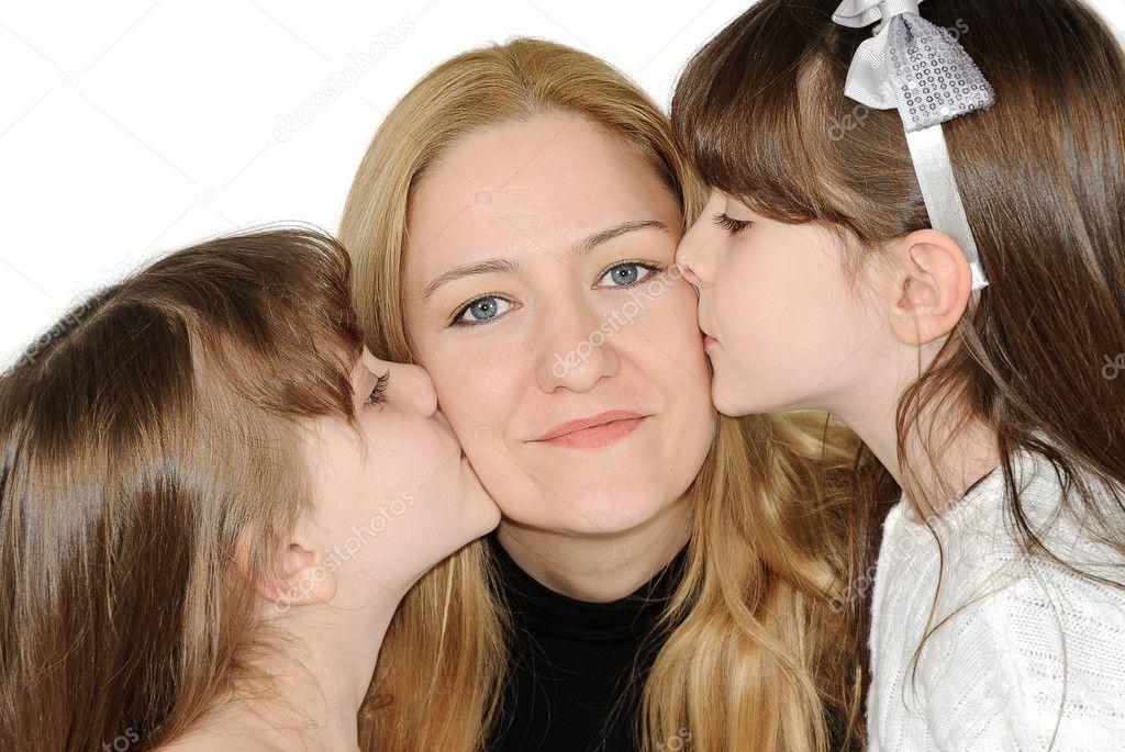 Lesbische Schwestern und Mama
