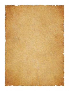 Parchment with ragged edges