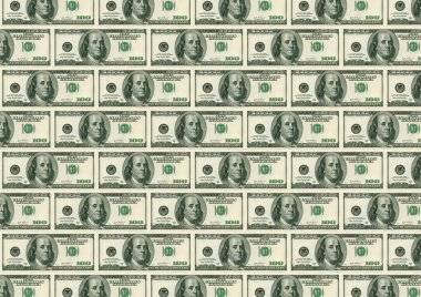 Back background from dollars