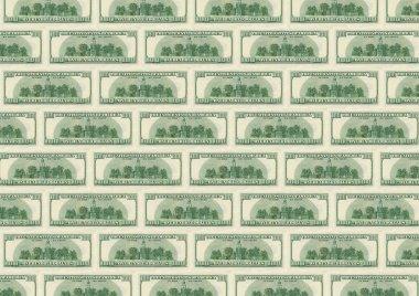Background from dollars underside