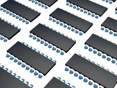 Computer microchip set