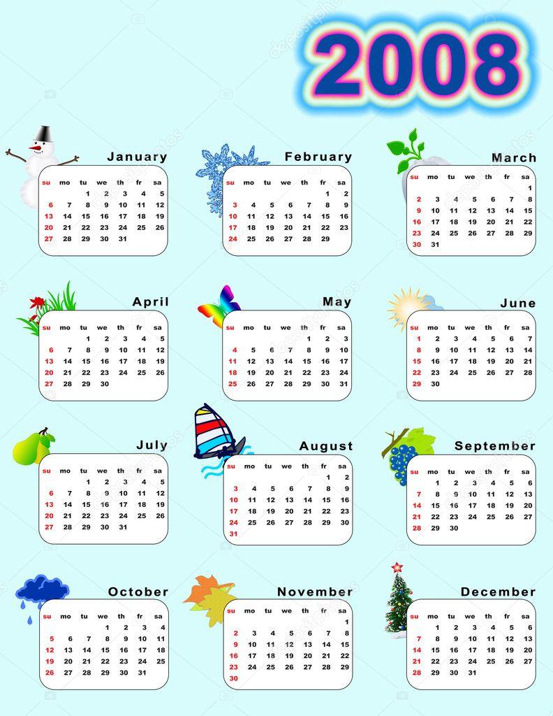 naptár 2008 március naptár 2008 — Stock Fotó © galdzer #6190772 naptár 2008 március