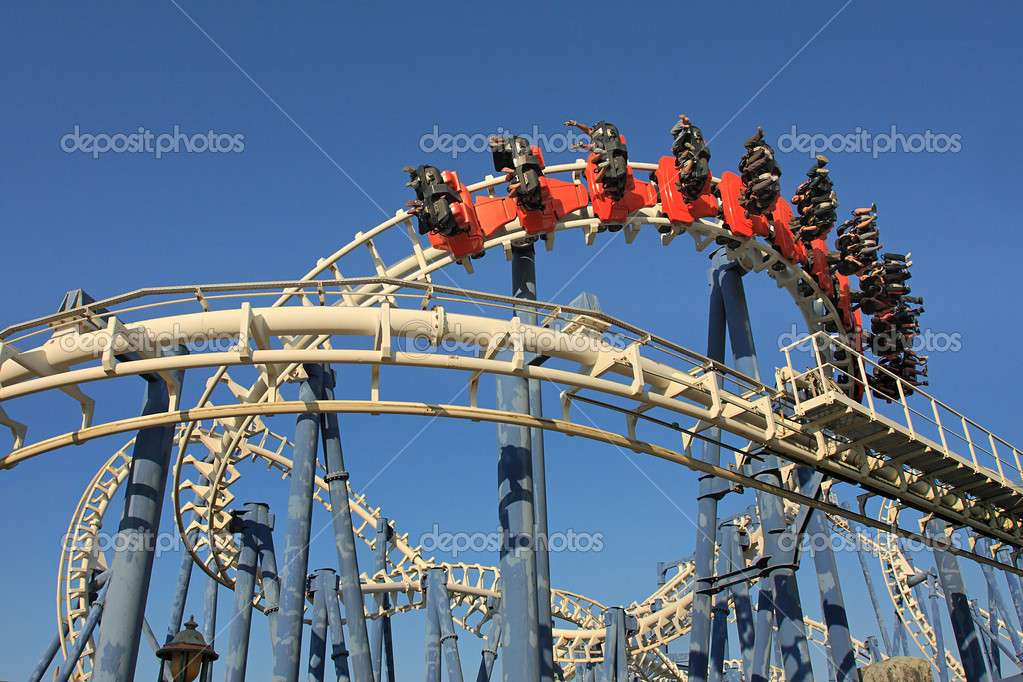 Roller coaster ride.