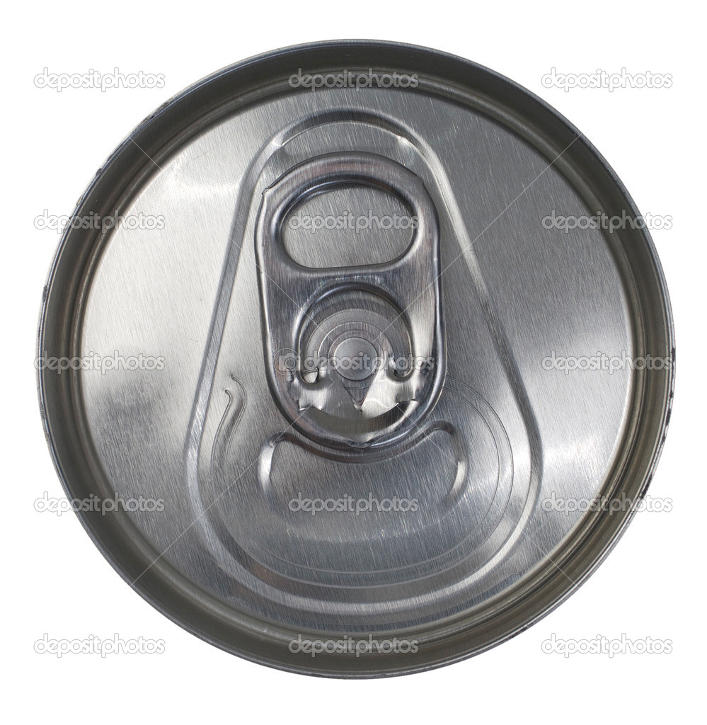 Top View Of A Silver Soda Pop Can