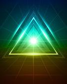 3D abstraktní trojúhelník tunelu vektorové pozadí