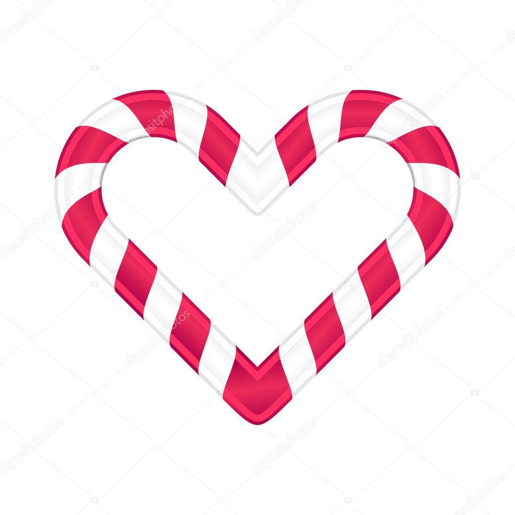 Christmas Heart Vector.Christmas Candy As Heart Vector Illustration Stock Vector