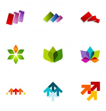 Logo design elements set 23