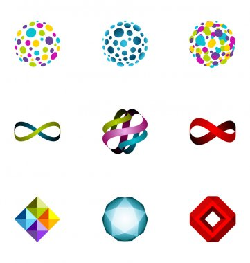 Logo design elements set 20