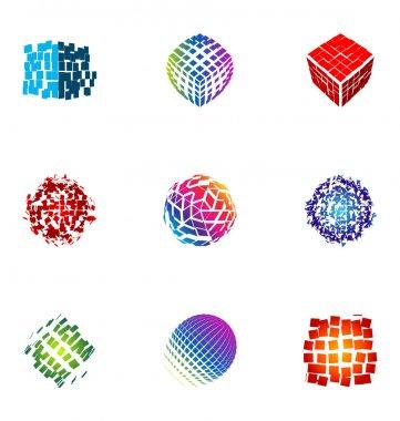 Logo design elements set 18