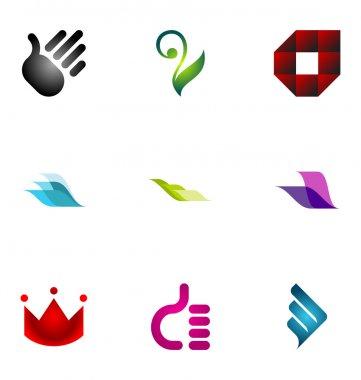 Logo design elements set 05