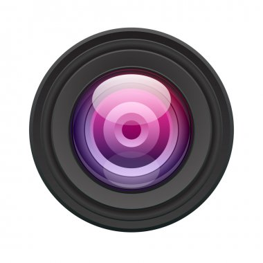 Camera lens vector illustration