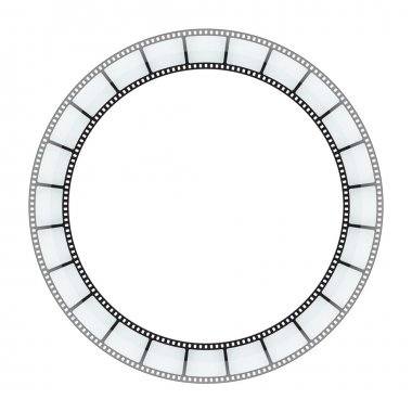 Film round tape vector background