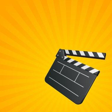 Film clap board cinema vector background