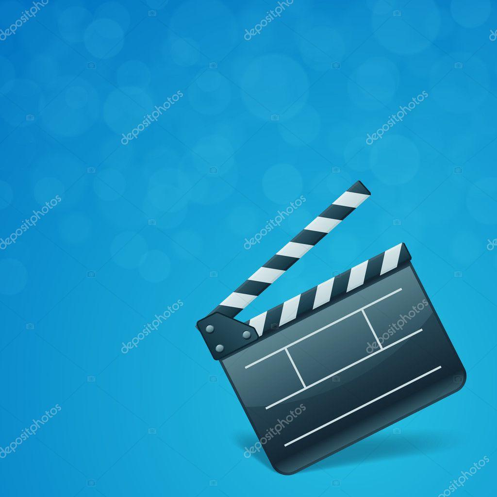 Film Clap Board Cinema Vector Background Stock Vector Vikasuh