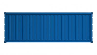 Blue container isolated on white stock vector