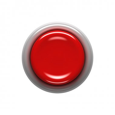 Red button isolated on white stock vector