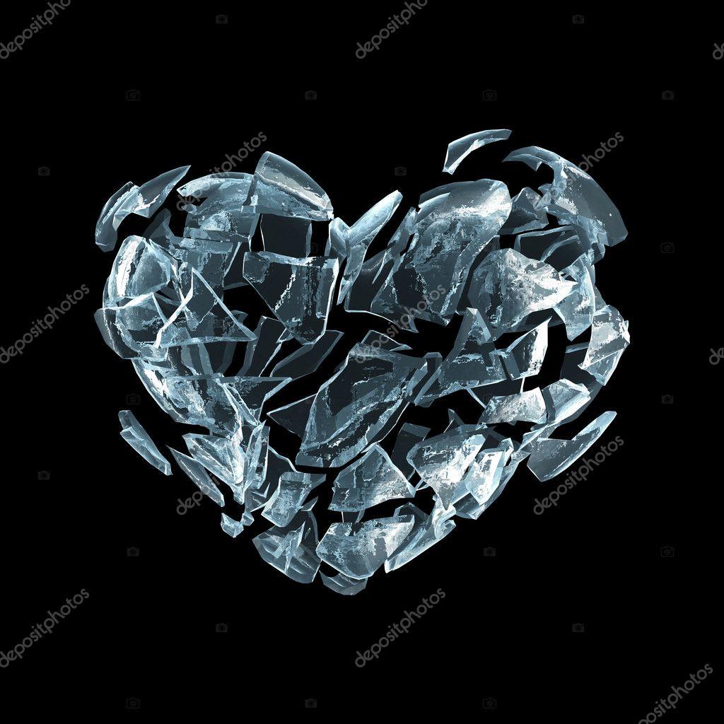 Broken ice heart