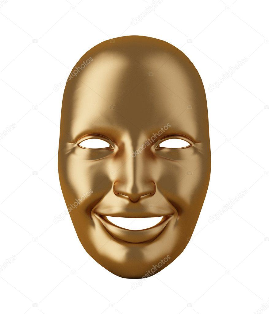 Gold mask isolated